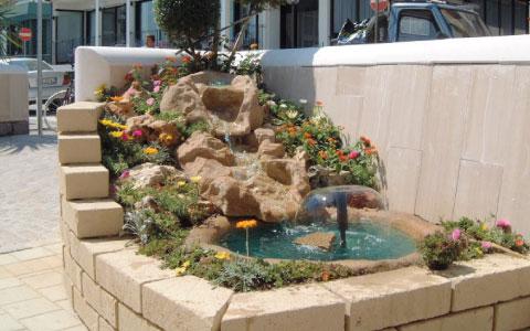 Fontane naturali - Santarini cemento