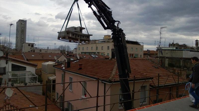 struttura per balconi, fasi di montaggio