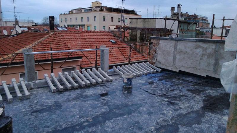 struttura per balconi, fasi di lavorazione