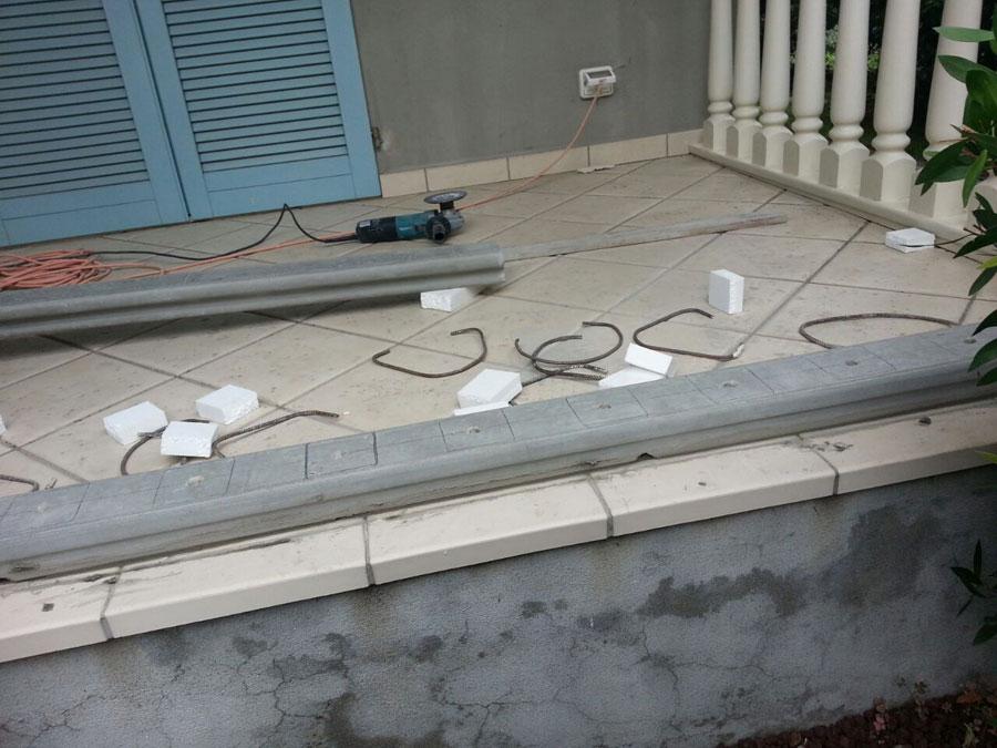 lavorazione balaustra terrazza